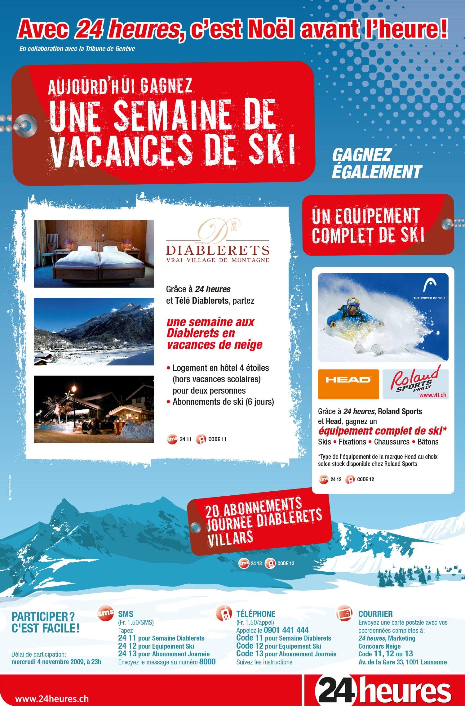 24 heures / Semaine de ski - Concours
