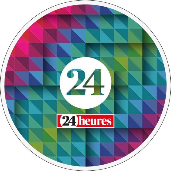 24 heures / tapis de souris / rond - Haymoz design