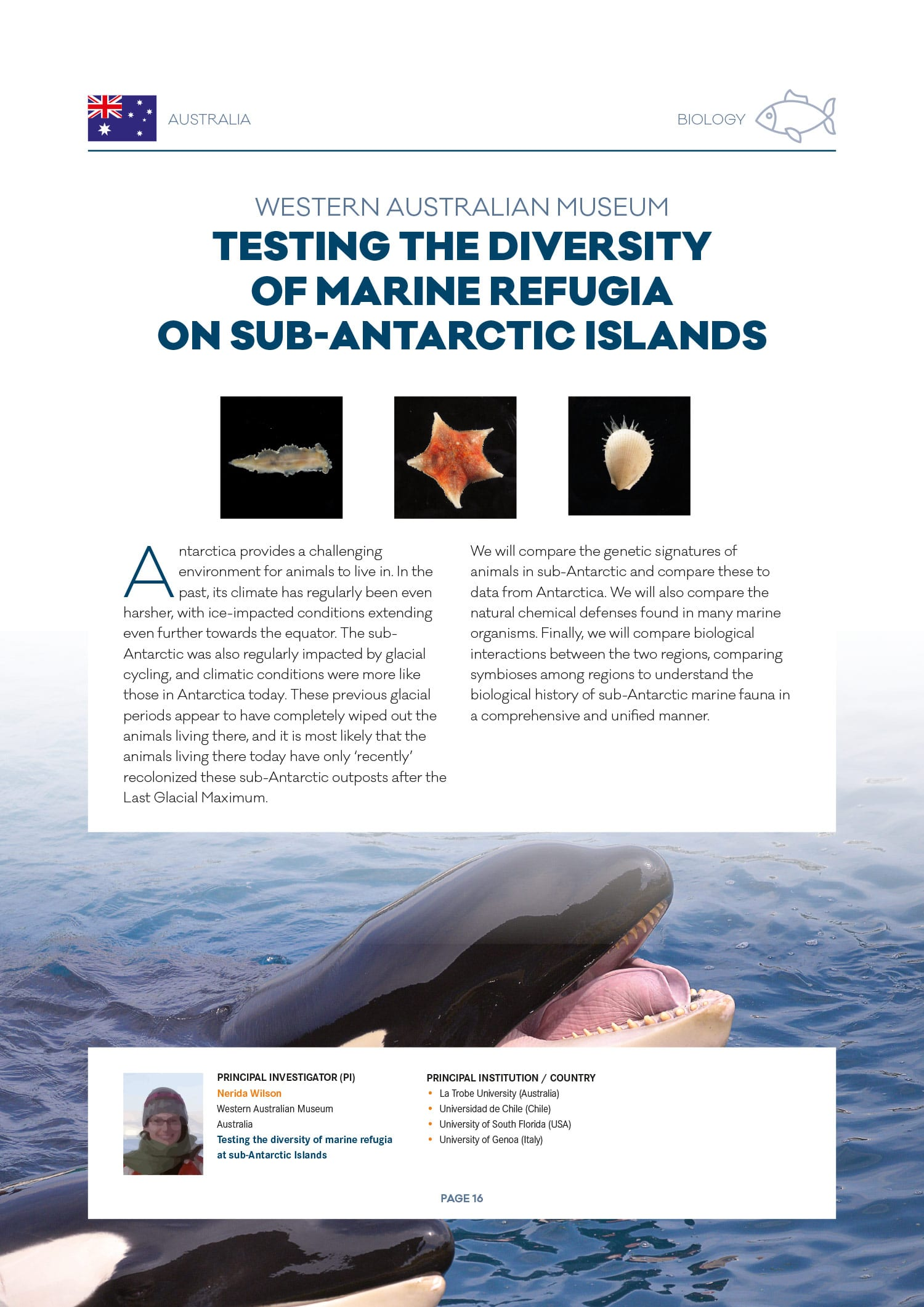 Dossier de presse Antarctic Circumnavigation Expedition (EPFL) Biology