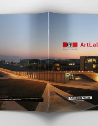 EPFL Dossier de Presse du nouvel Artlab © Haymoz design, graphiste Lausanne