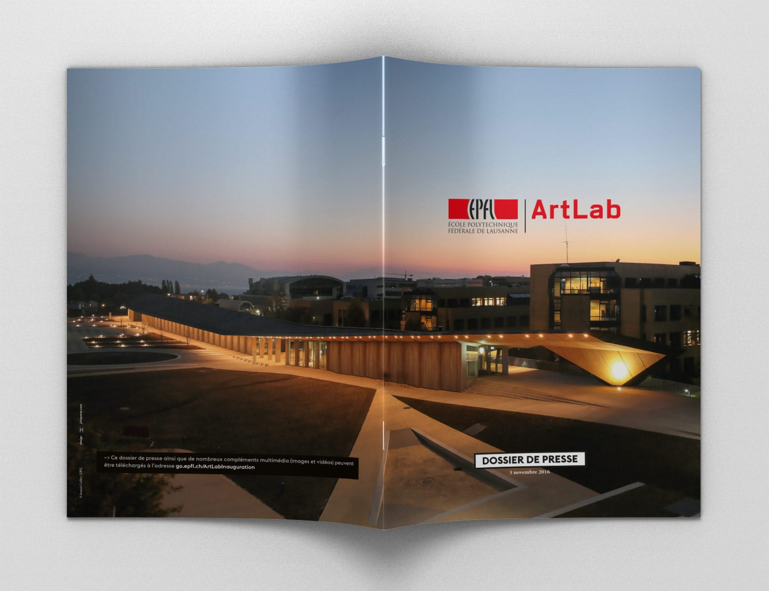 Dossier de Presse Bâtiment Artlab EPFL couverture