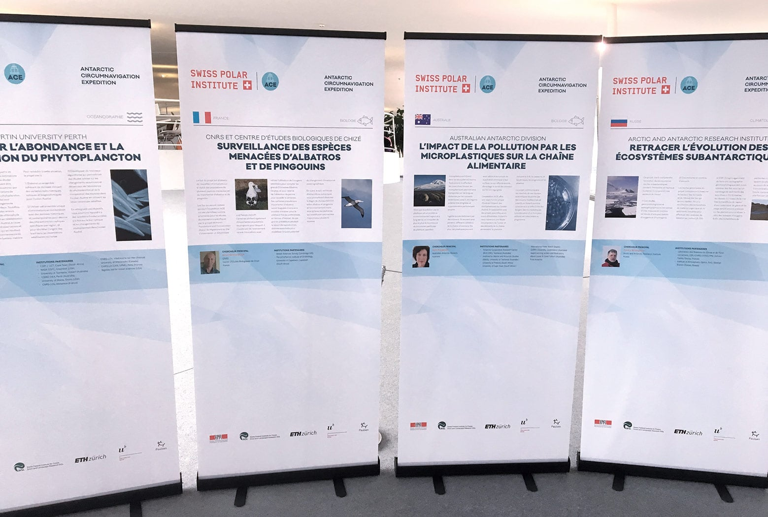 Exposition Roll-ups Antarctic Circumnavigation Expedition (EPFL) vue 2