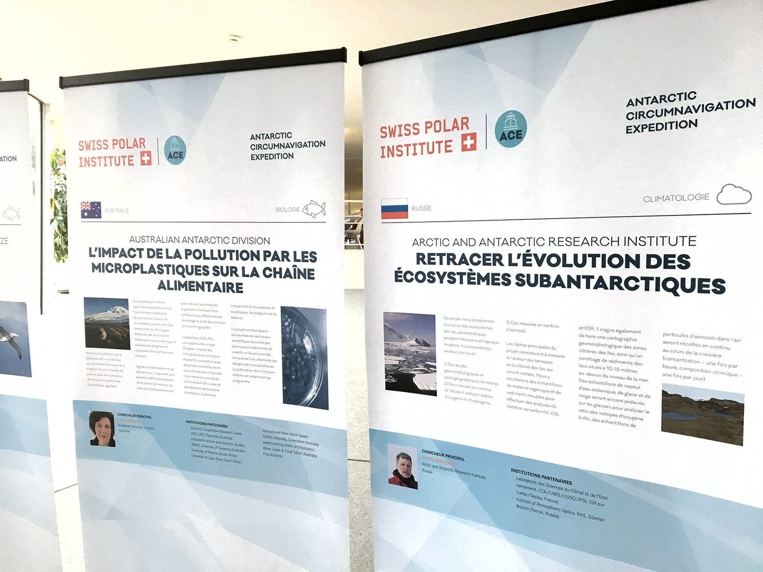 Exposition Roll-ups Antarctic Circumnavigation Expedition (EPFL) vue 3