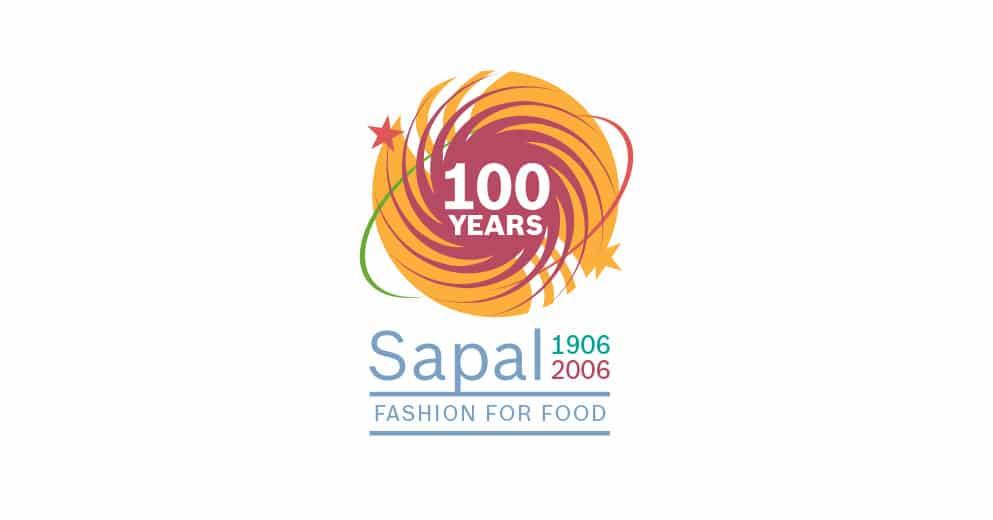 Logo 100 ans de Sapal filiale de Bosch - Haymoz design