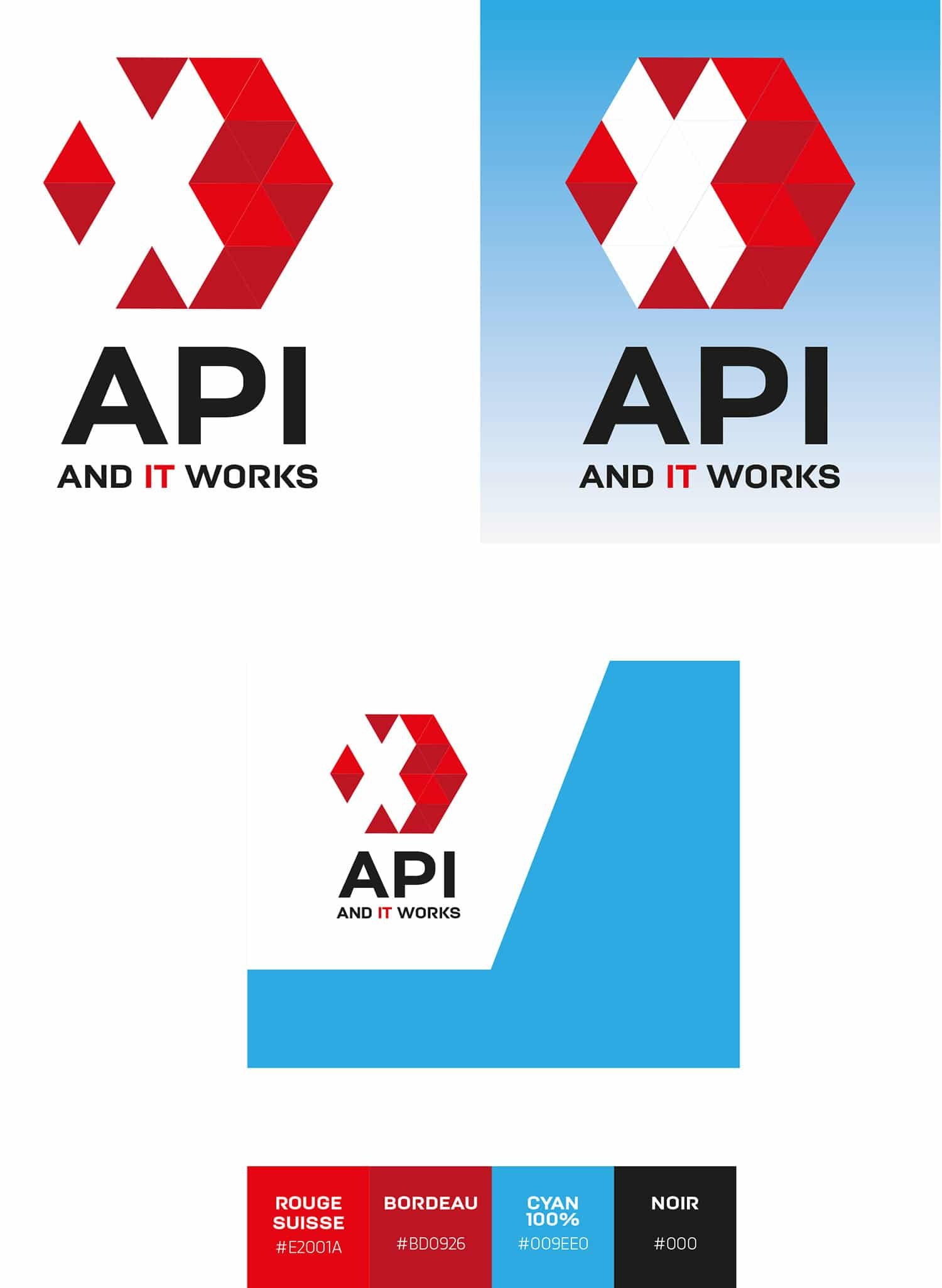 Logo API IT solutions & services – codes couleur