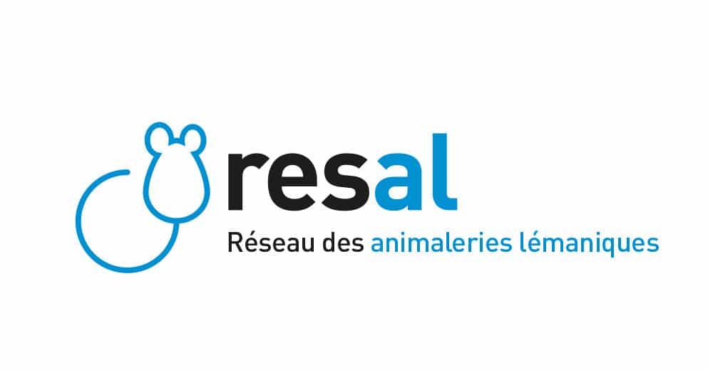 Logo resal - réseau des animaleries lémaniques - Haymoz design