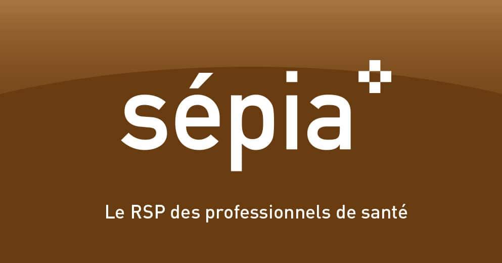 Logo sépia - Le réseau socioprofessionnel de santé - Haymoz design