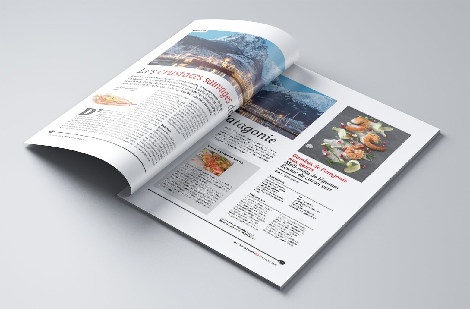 Magazine Chef's Goutatoo articles