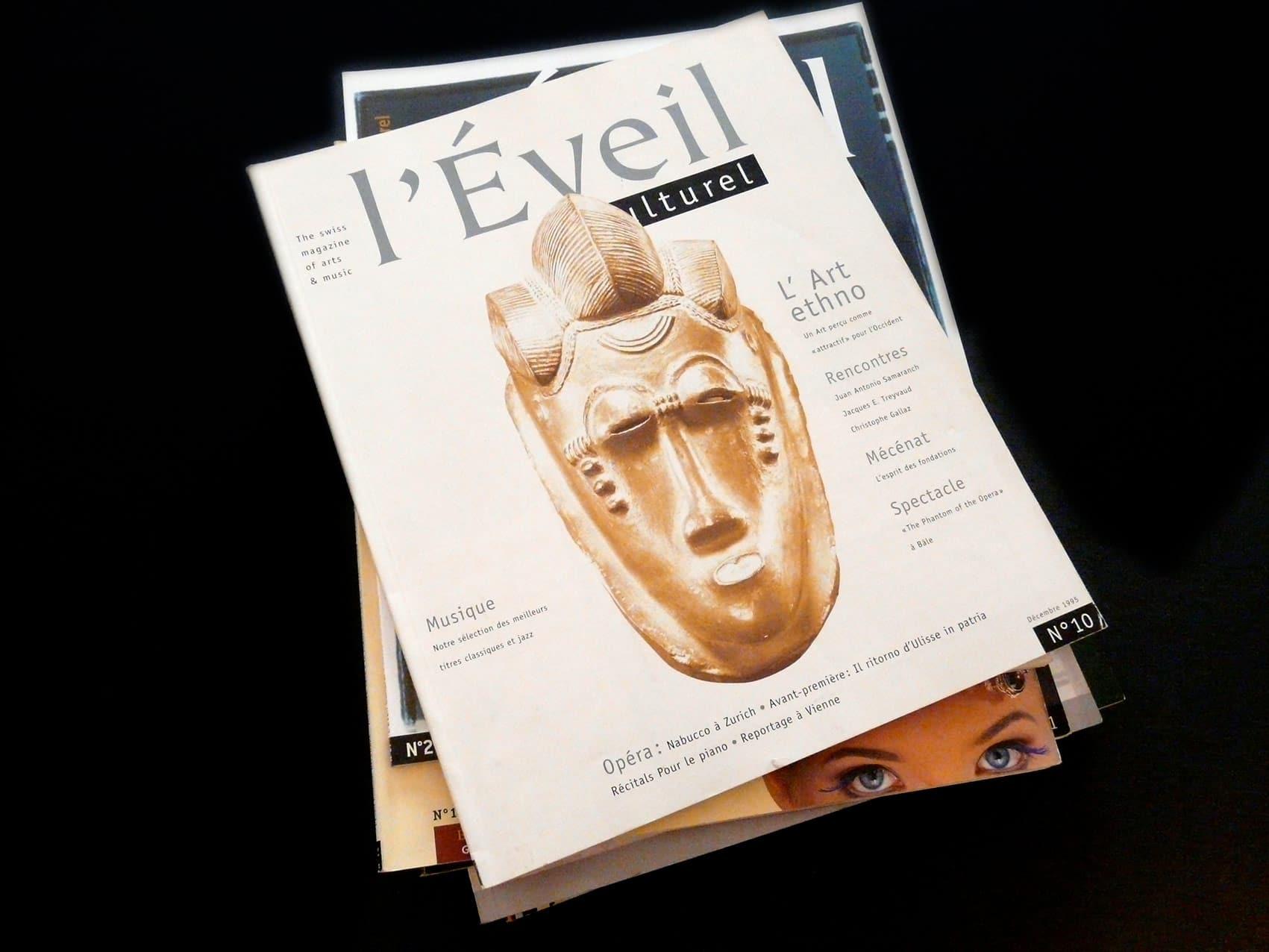 Magazine L'Éveil Culturel - Direction artistique et mise en page vue 2