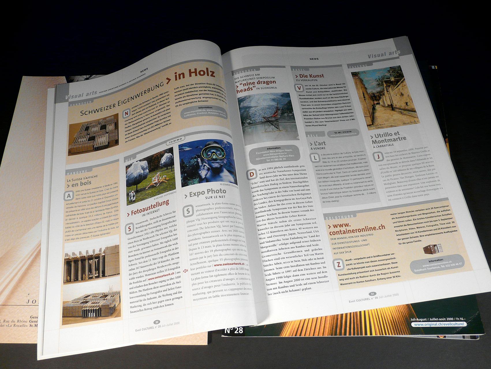 Magazine L'Éveil Culturel - Direction artistique et mise en page vue 6