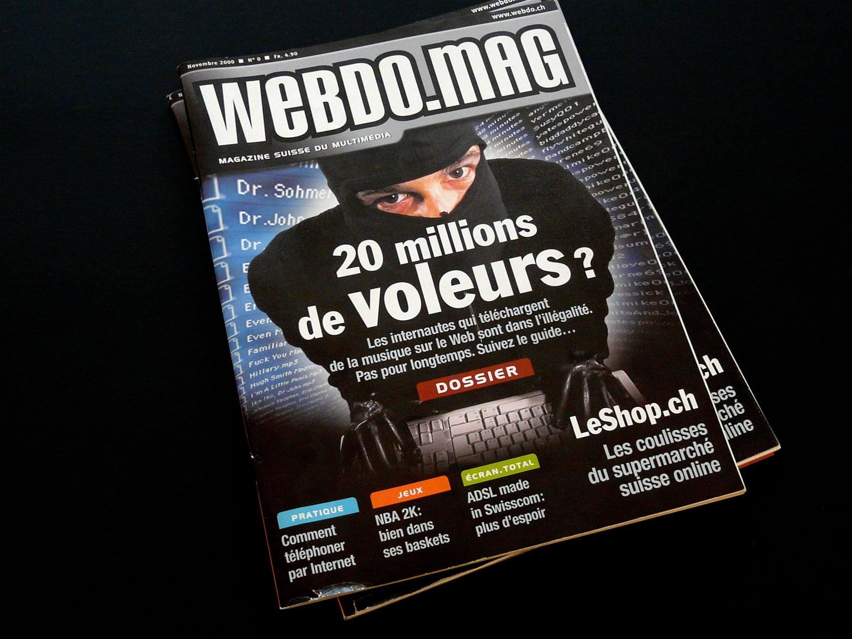 Magazine Webdomag - Création sur concours du numéro zéro couverture