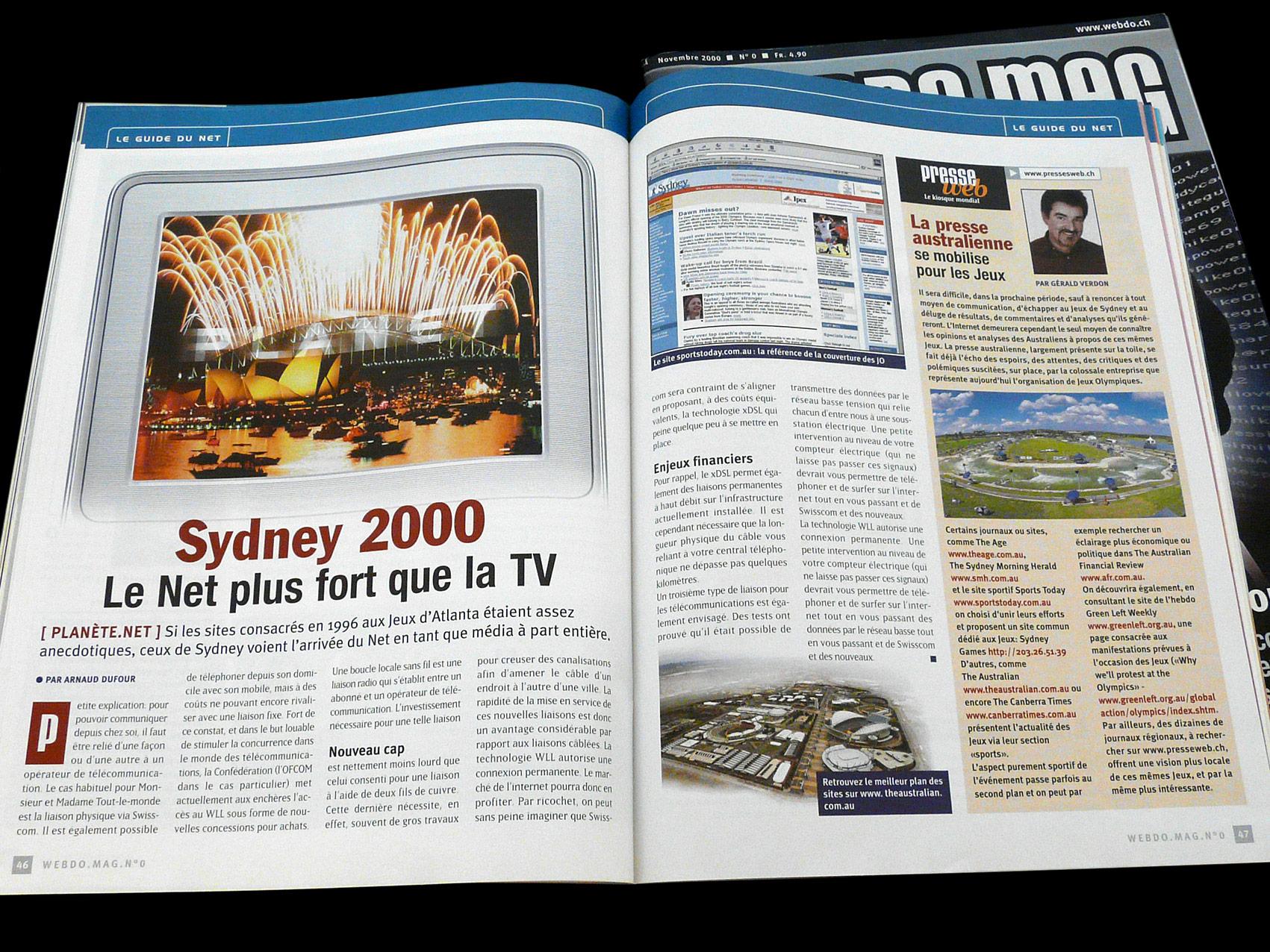 Magazine Webdomag - Création sur concours du numéro zéro double Jeux Olympiques