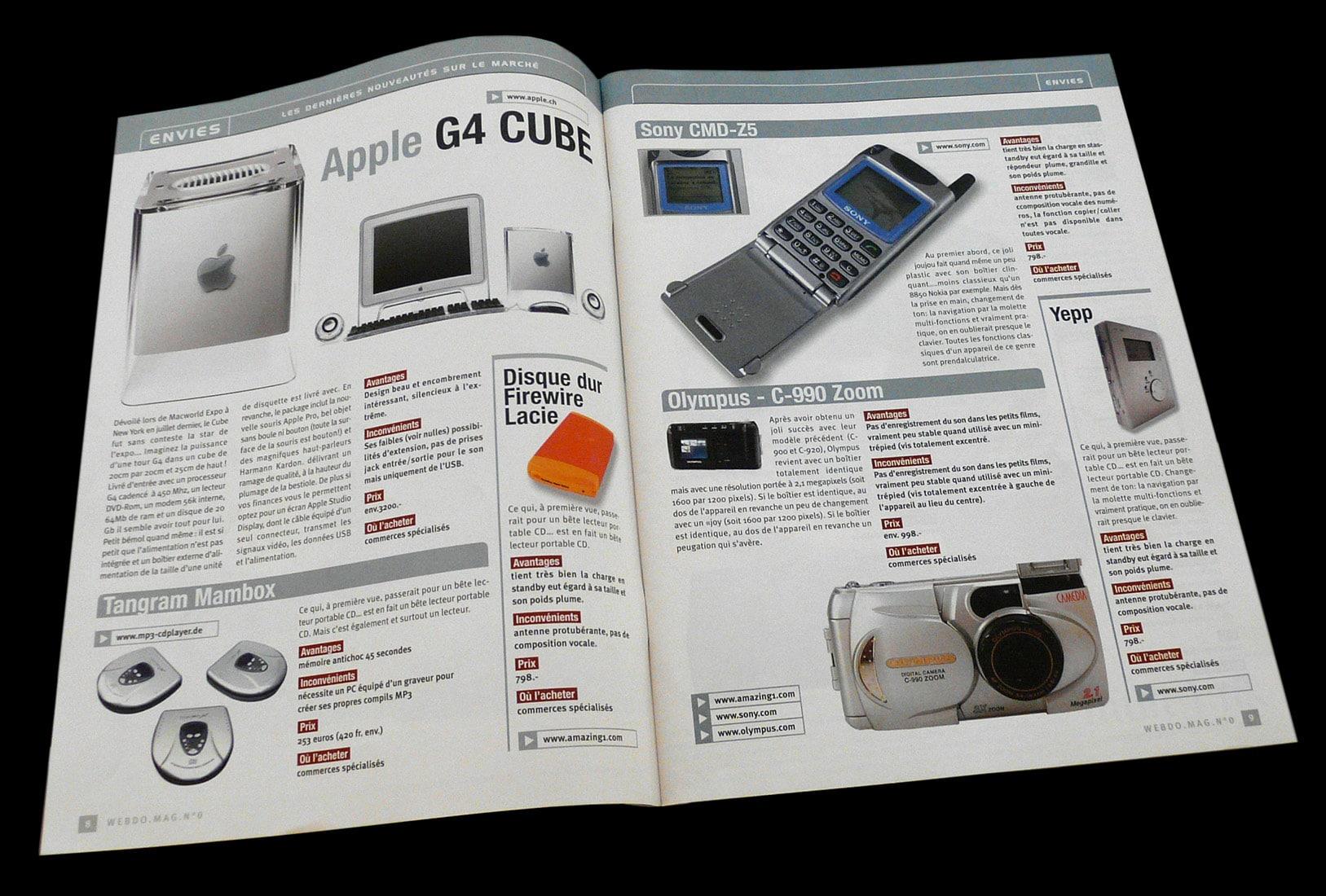 Magazine Webdomag - Création sur concours du numéro zéro double nouveautés