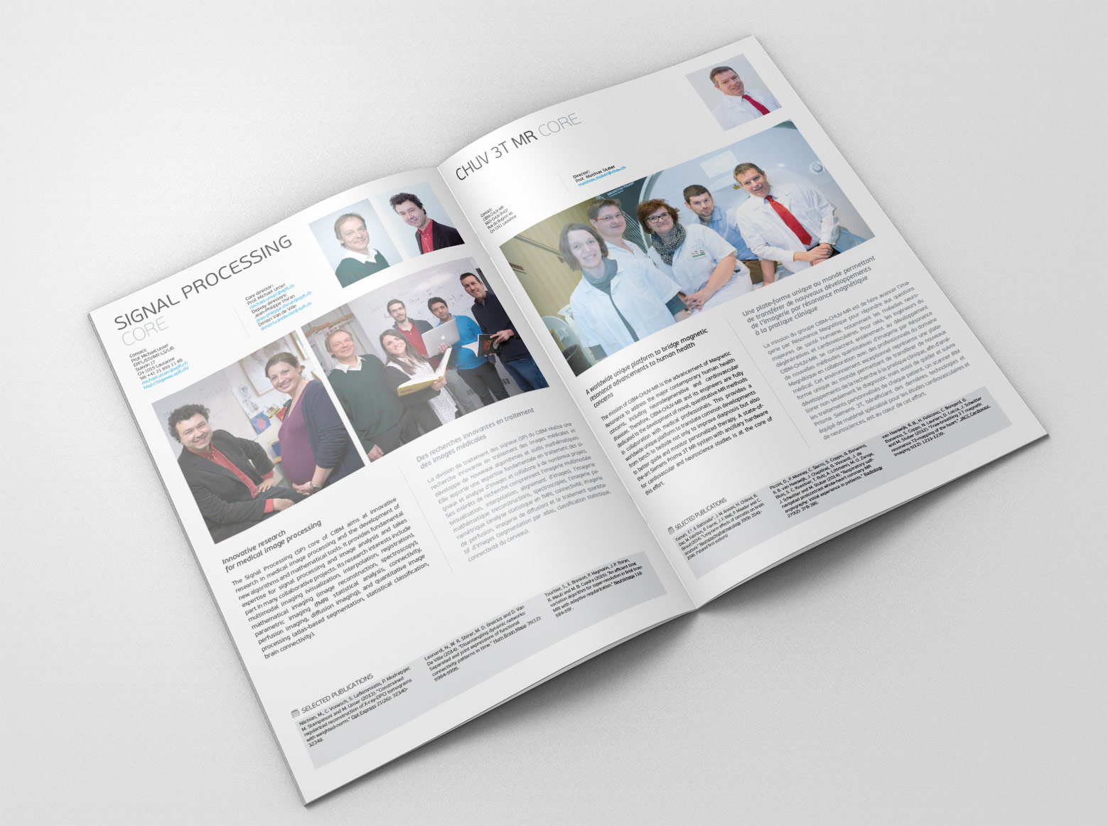Plaquette CIBM - Centre d'imagerie biomédicale / 10 ans d'activité vue 3