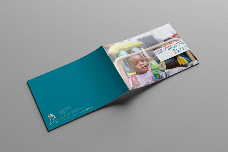 Rapport annuel Fondation Jeunesse et familles couverture