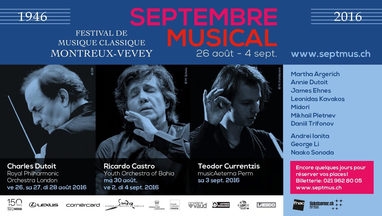 Septembre Musical - Annonce chefs d'orchestre
