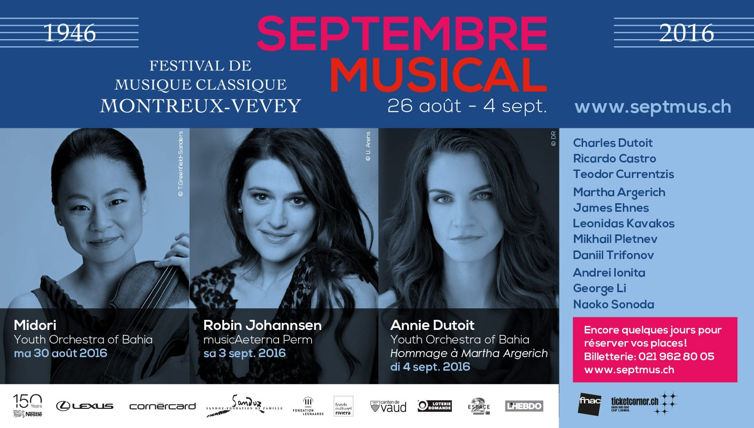 Septembre Musical - Annonces musiciennes