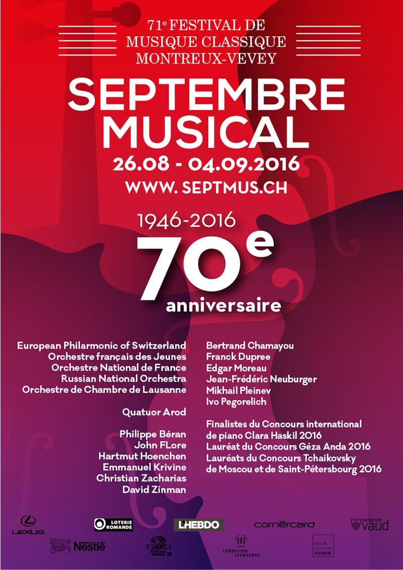 Septembre Musical - Projet 4 - Concours visuel 70 ème anniversaire - Haymoz design