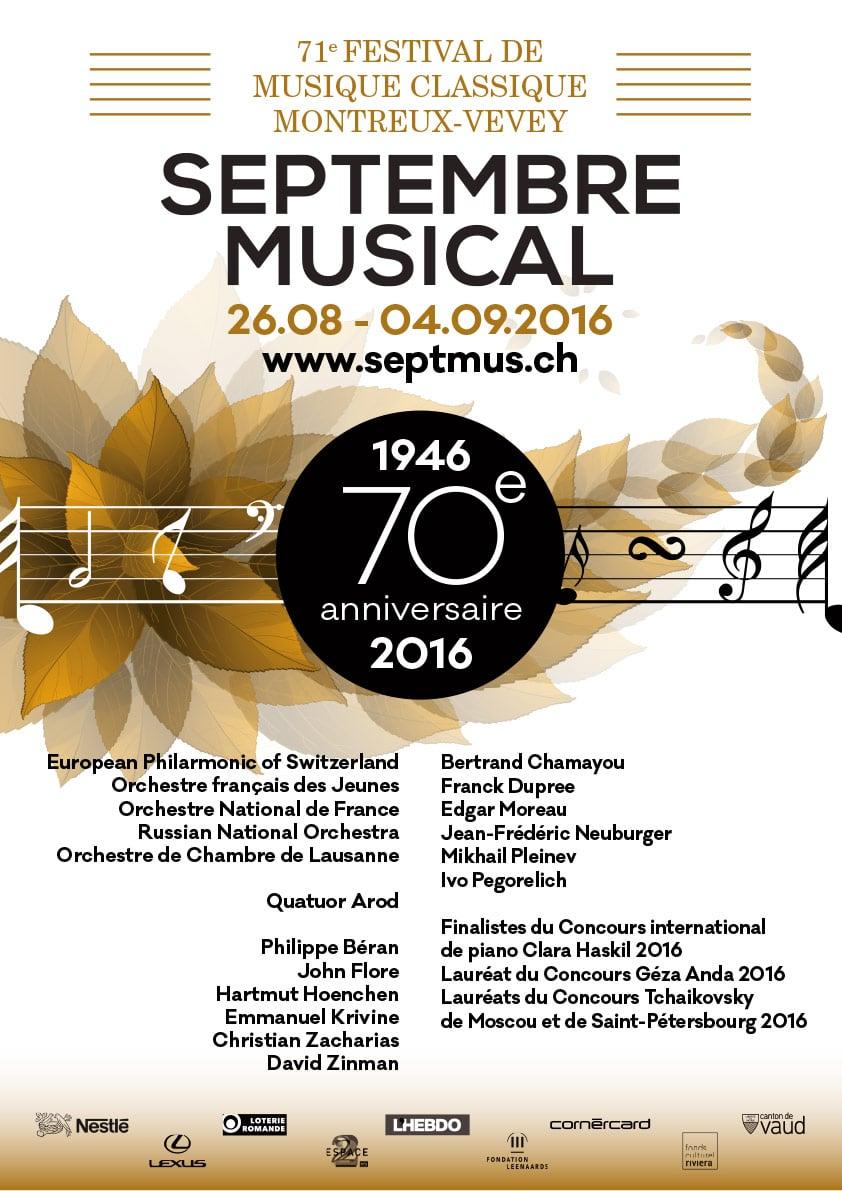 Septembre Musical - Projet 3 - Concours visuel 70 ème anniversaire - Haymoz design