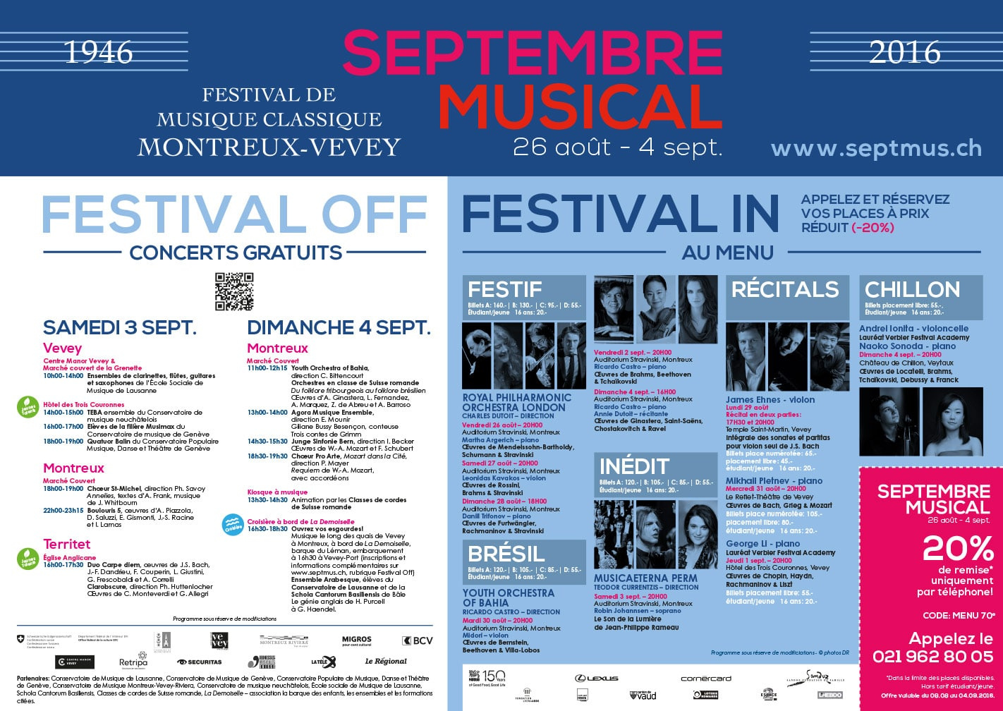 Septembre Musical - Set de table