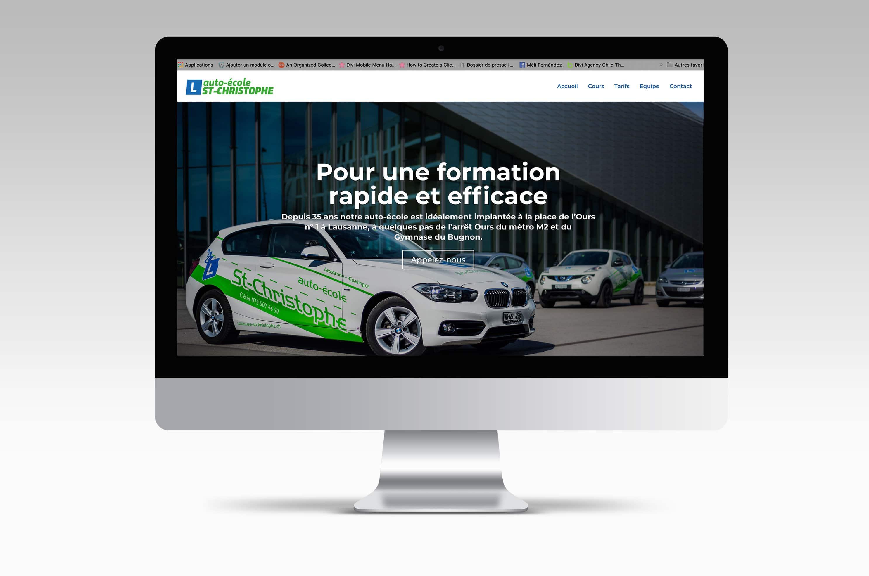 Site internet de l'auto-école St-Christophe à Lausanne