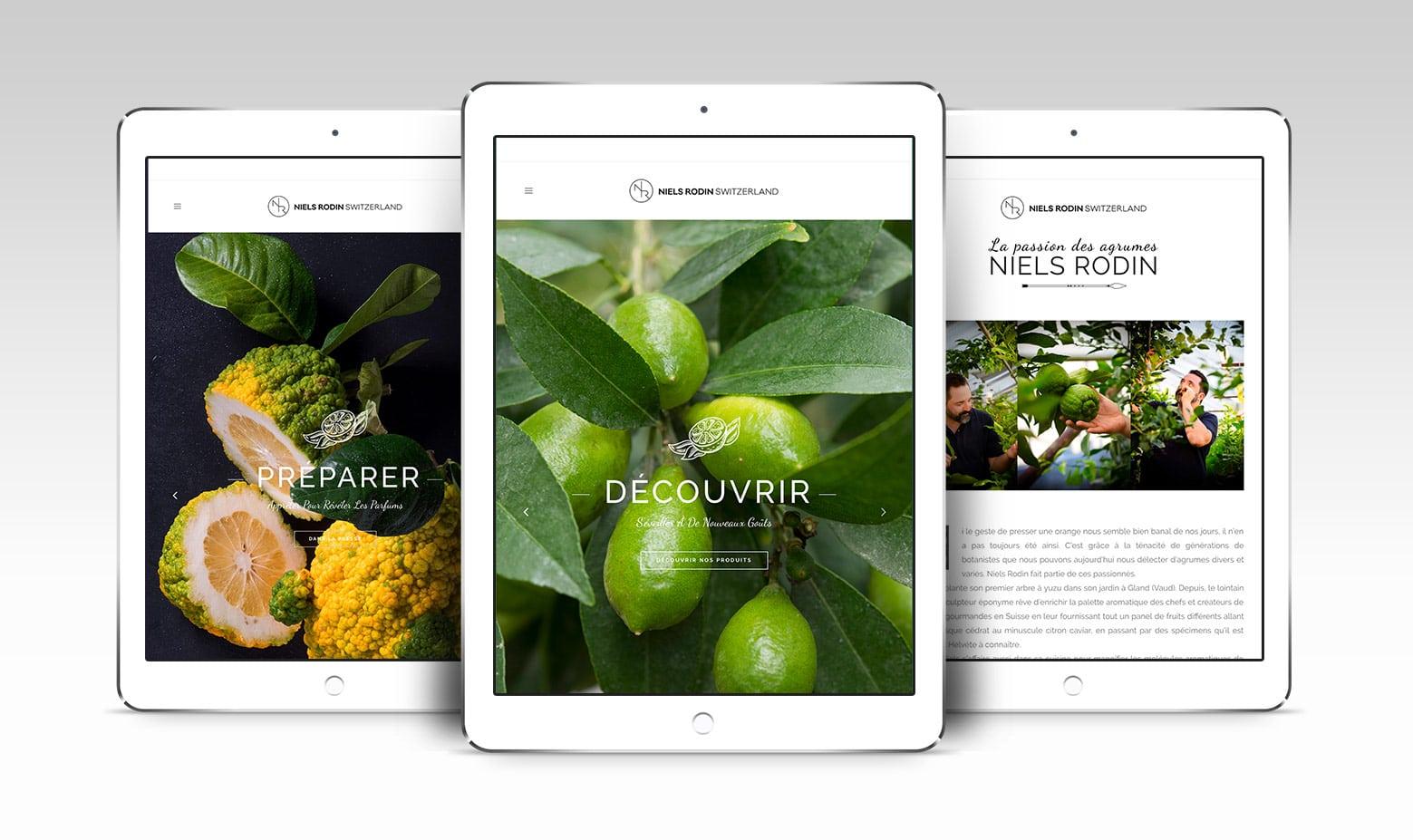Site internet de NIels Rodin, agrumiculteur suisse