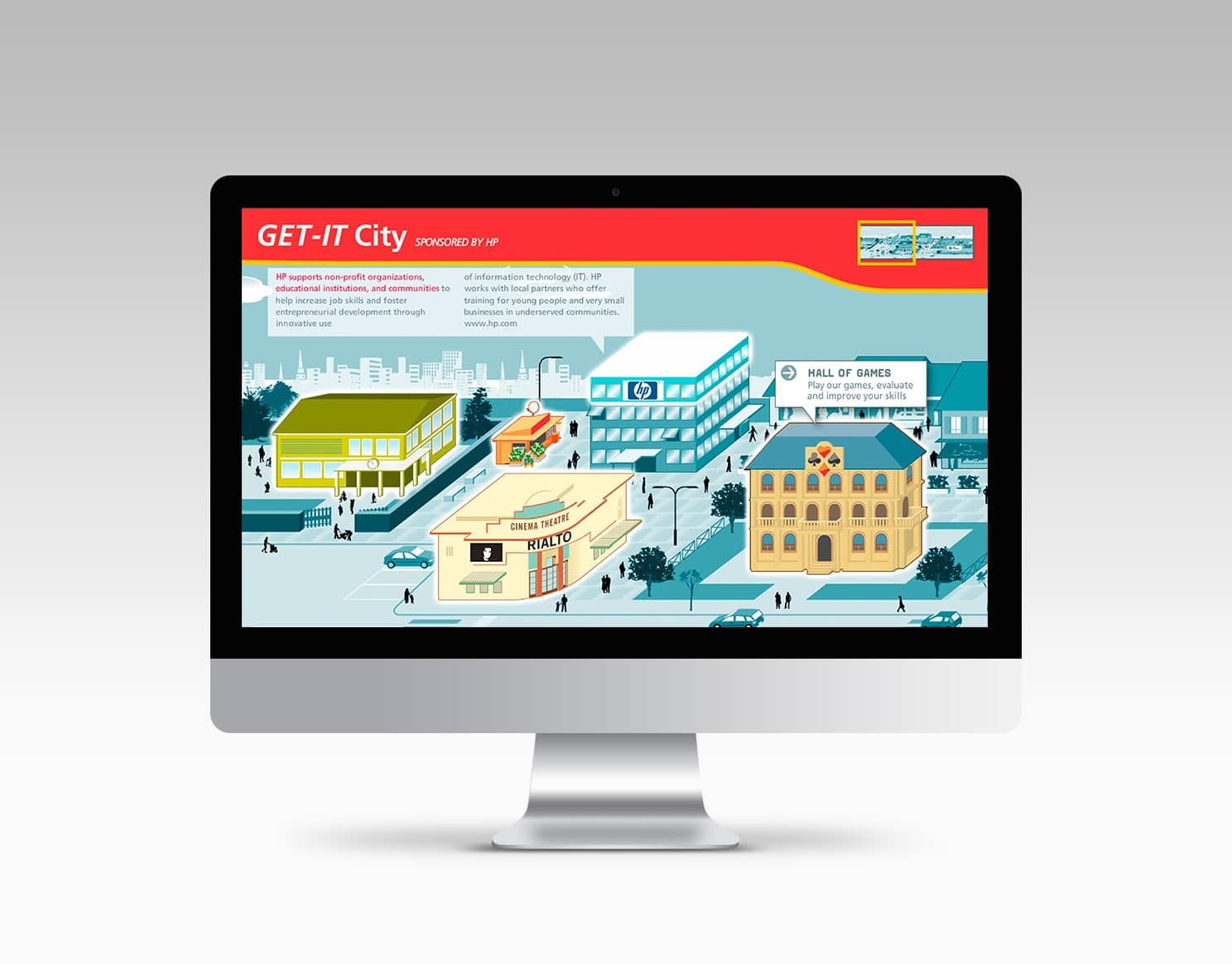 Site internet GET-IT City - Hewlett packard @ Haymoz design, graphiste Lausanne