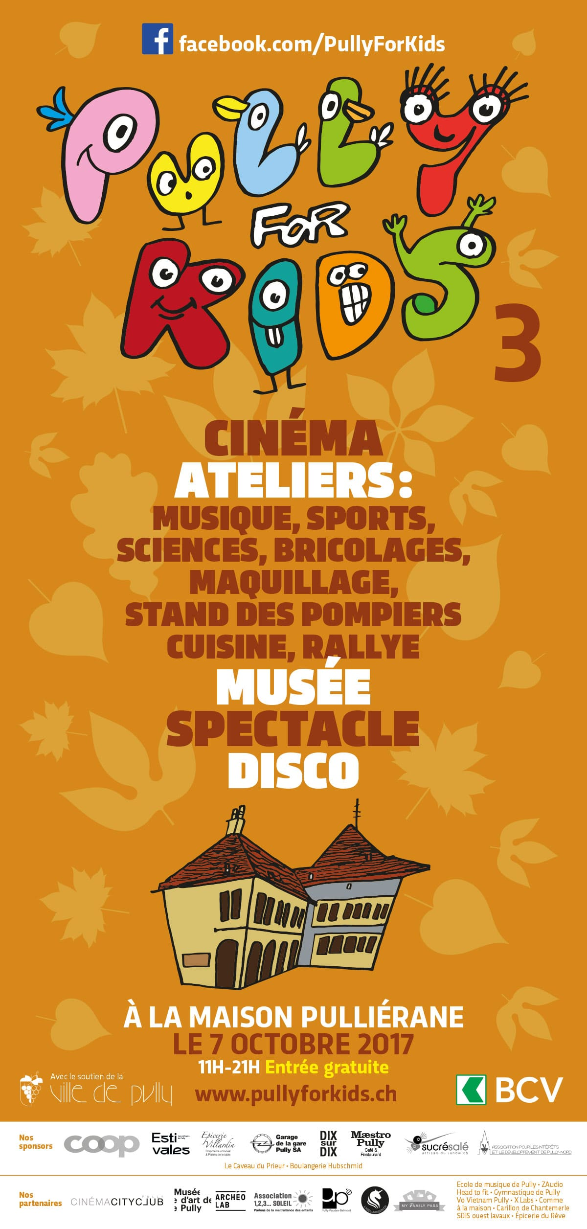 Pully for KId - Festvial pour enfants - Affiche / programme