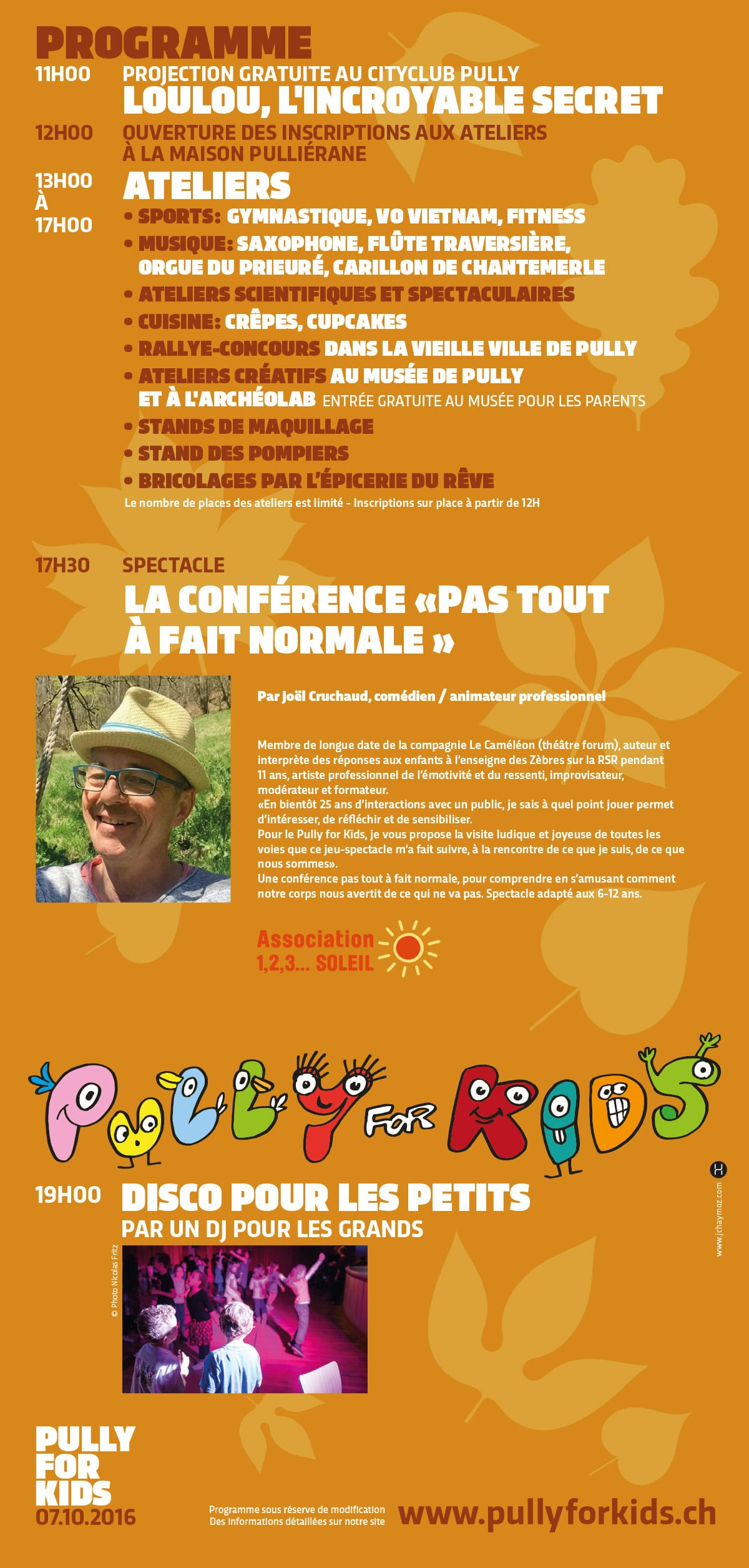 Pully for KId - Festvial pour enfants - Affiche / programme - Haymoz design