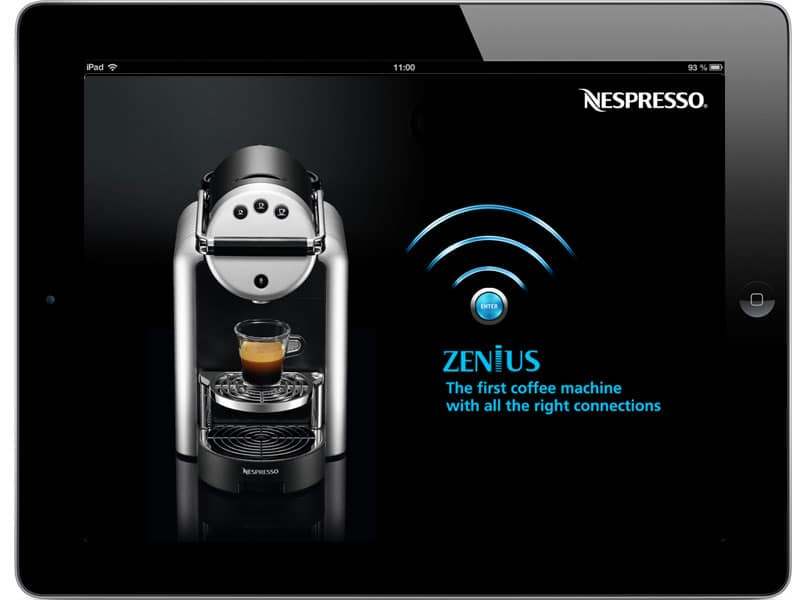 Elca - Design de l'interface Nespresso Zenius, machine à café connectée