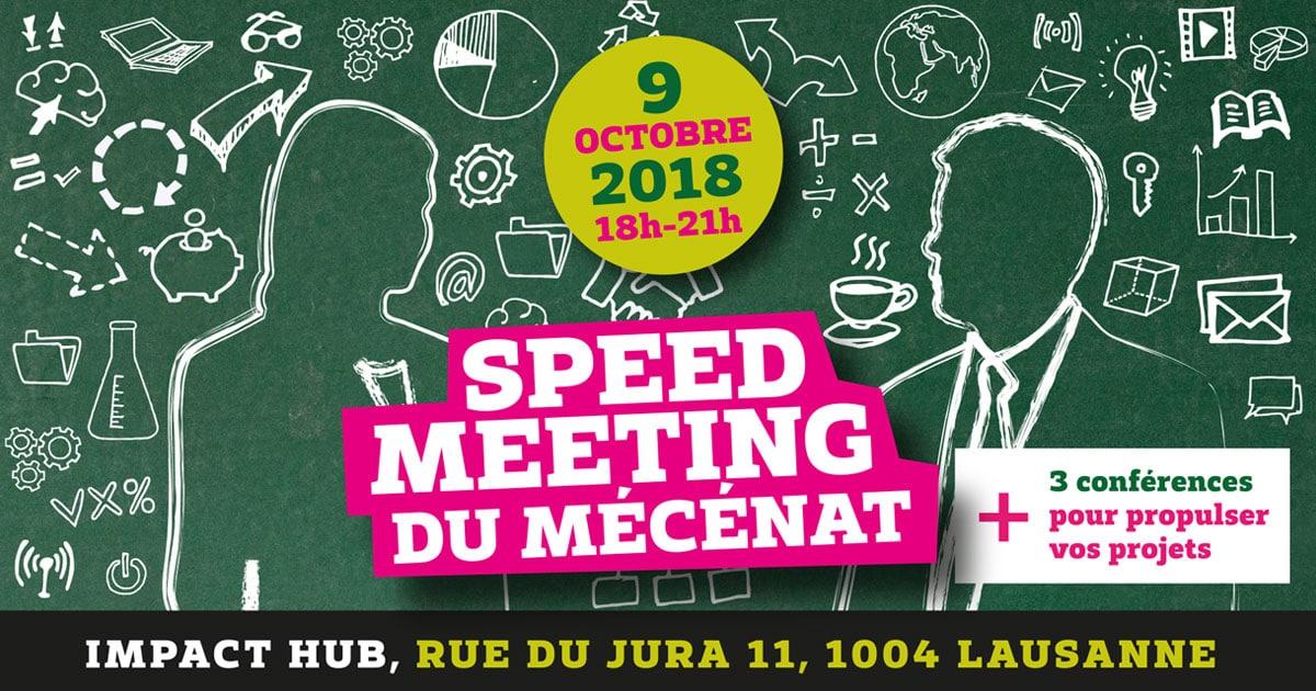 Société Vaudoise d'Utilité Publique (SVUP) - Speed Meeting du Mécénat