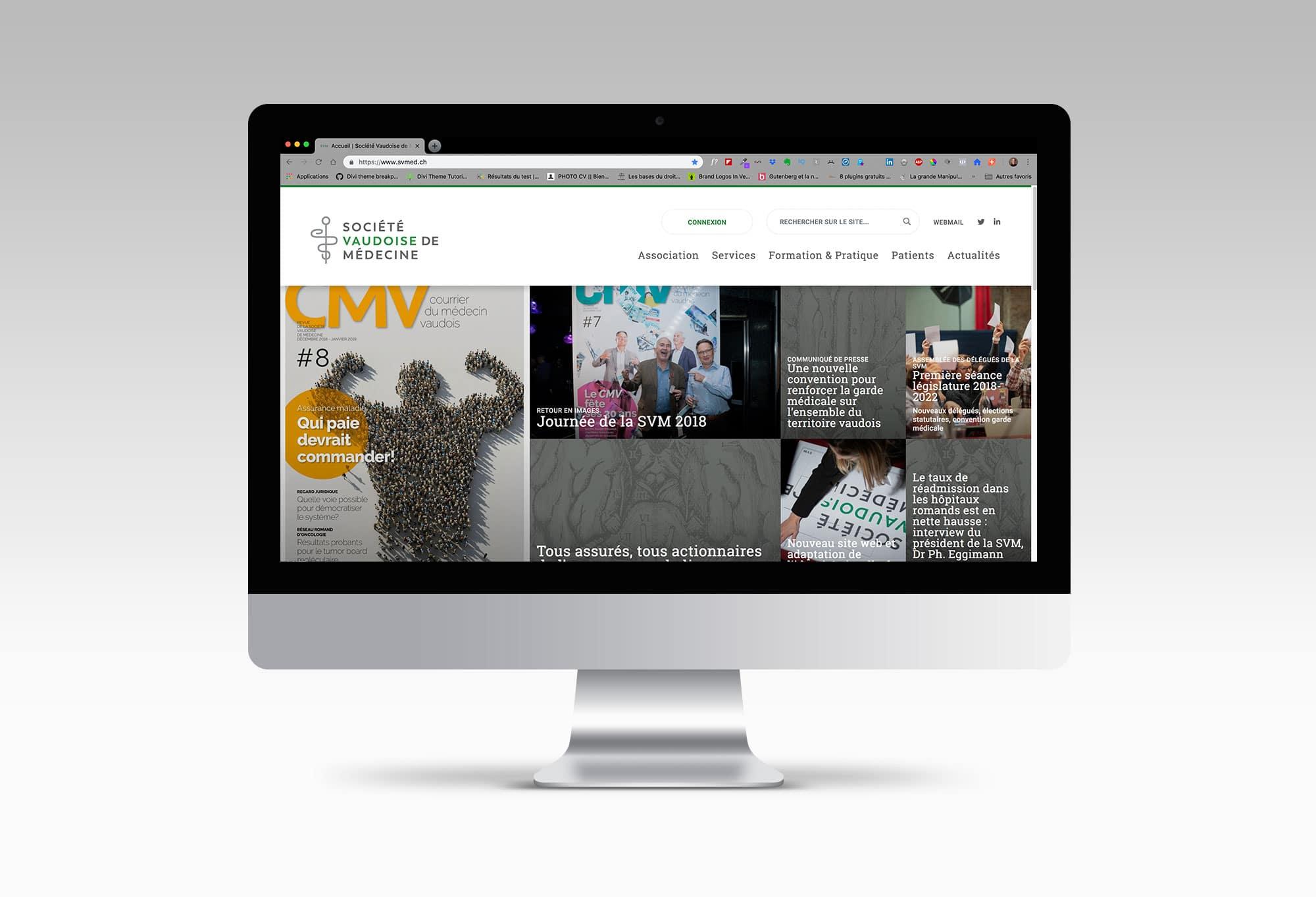 Société Vaudoise de Médecine - Consulting graphique du site