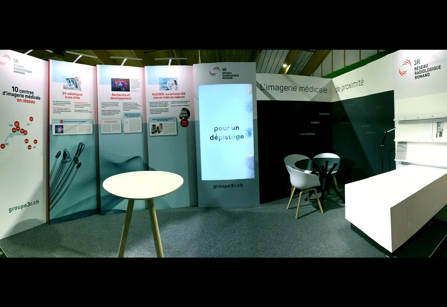 Group 3R - Stand d'exposition - Avec ftc communication et Christophe Moinat Design - Haymoz design