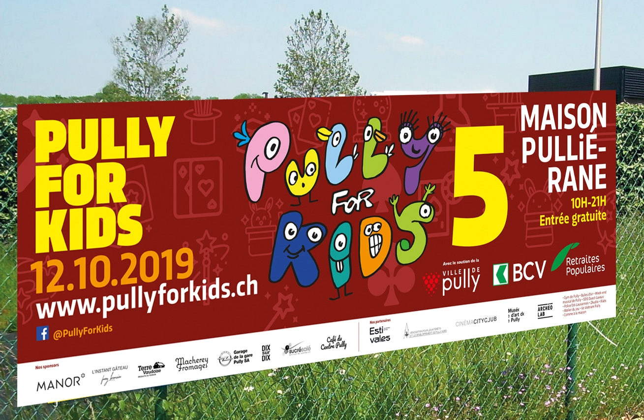 Pully for Kids 5 - Le festval des 4-12 ans - communication