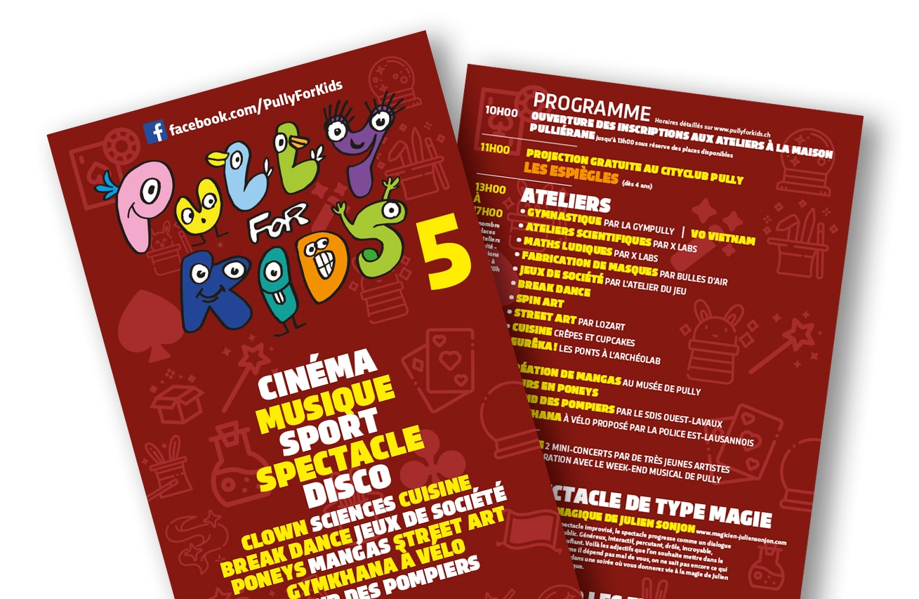Pully for Kids 5 - Le festval des 4-12 ans - communication - Haymoz design