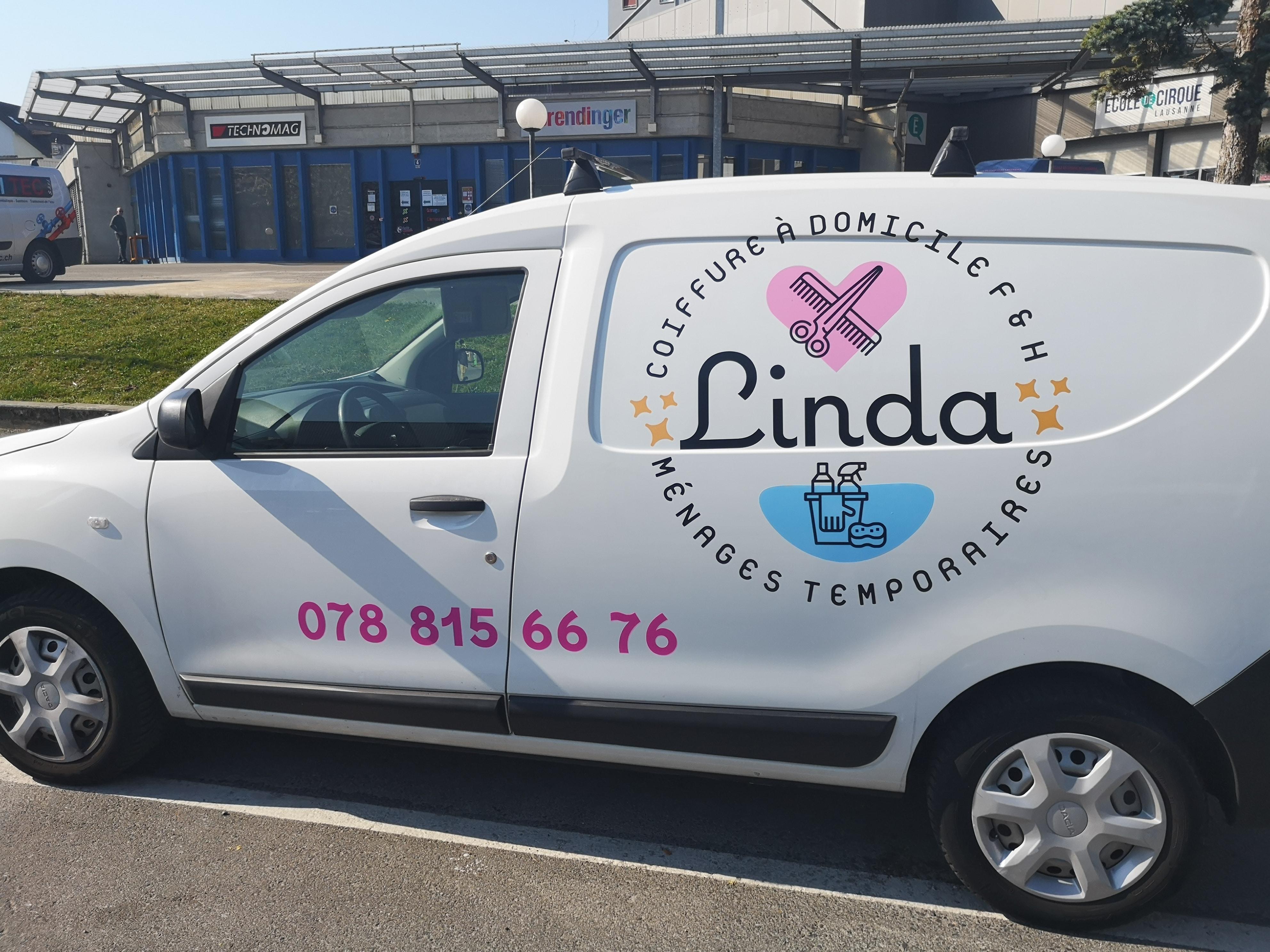 Linda Coiffure - Logo et flocage de véhicule - Haymoz design