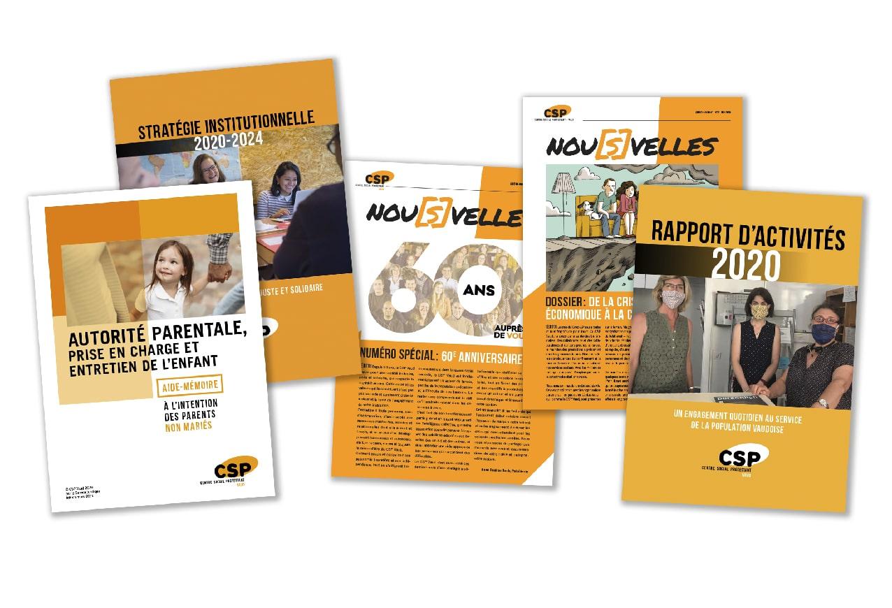 Publications diverses pour le Centre social protestant Vaud (CSP Vaud)